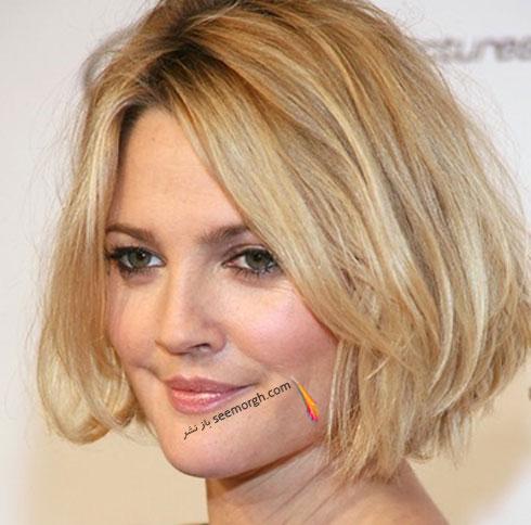 مدل موی ساده برای صورت های گرد