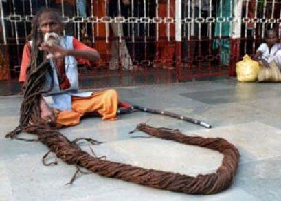عکس:مردی که از کودکی موهایش را کوتاه نکرده است!!