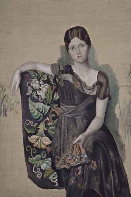پرتره اولگا در صندلی