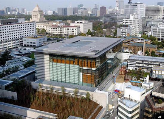 محل سکونت نخست وزیر ژاپن. بنایی مدرن، ضد زلزله با سقف شیشه ای