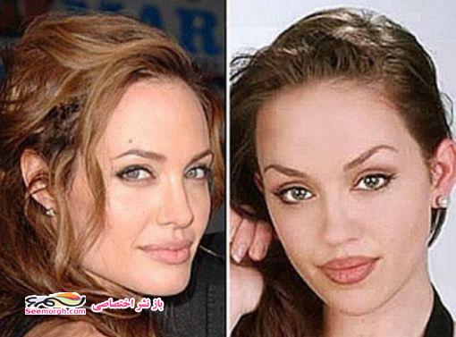 شباهت زن جوان به آنجلینا جولی 3