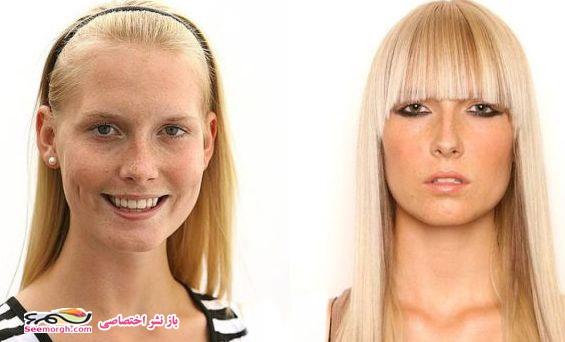 جوانترین مدلها، با آرایش و بدون