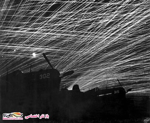 جنگ جهانی دوم,جنگ جهانی,عکس جنگی,عکس جنگ جهانی,شلیکهای ضد هوایی