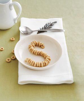 تزئین ظروف صبحانه با حبوبات