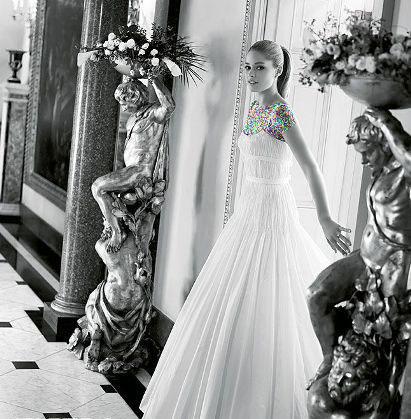 مدل لباس عروس های زیبای دوتزن کروس - مدل شماره 8