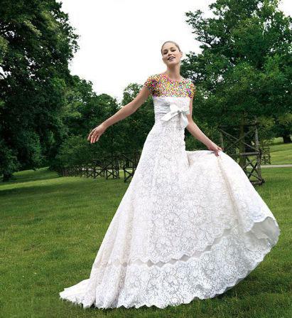 مدل لباس عروس های زیبای دوتزن کروس - مدل شماره 9