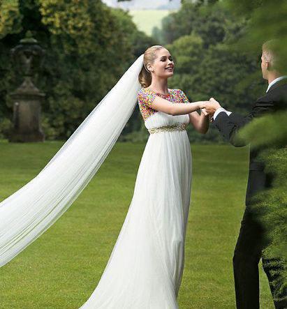 مدل لباس عروس های زیبای دوتزن کروس - مدل شماره 15
