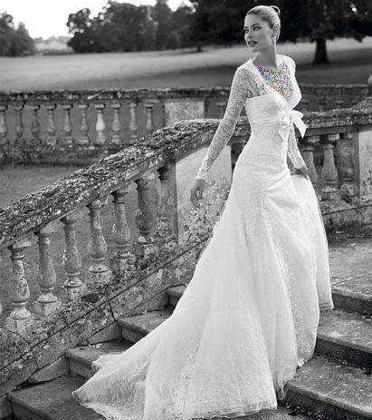 مدل لباس عروس های زیبای دوتزن کروس - مدل شماره 6