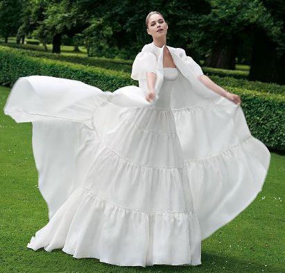 مدل لباس عروس های زیبای دوتزن کروس - مدل شماره 7