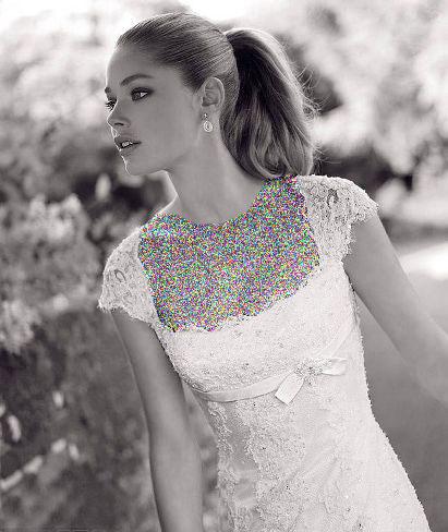 مدل لباس عروس های زیبای دوتزن کروس - مدل شماره 3