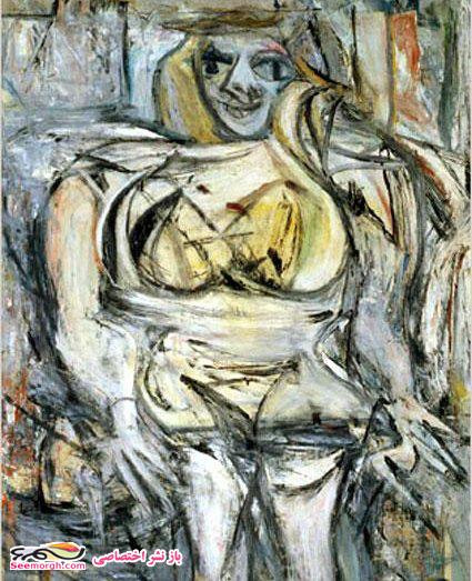 نقاشی زن سوم اثر ویلم دِ کونینگ