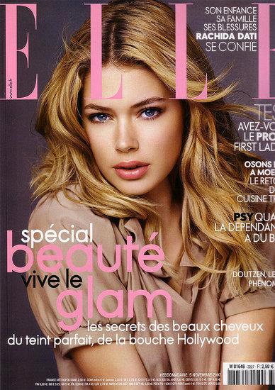 دوتزن کروس بر روی جلد مجله elle