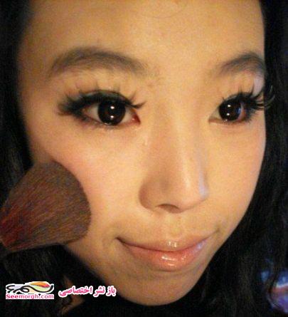تصاویر دختری که با آرایش از این رو به اون رو شد!! +عکس