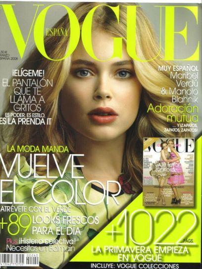 دوتزن کروس بر روی جلد مجله vogue