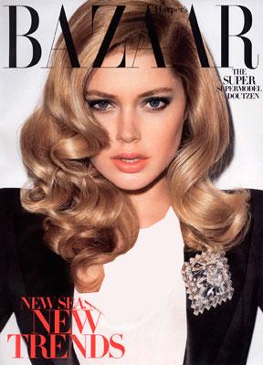 دوتزن کروس بر روی جلد مجله bazaar