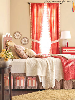 اتاق خوابی رنگارنگ