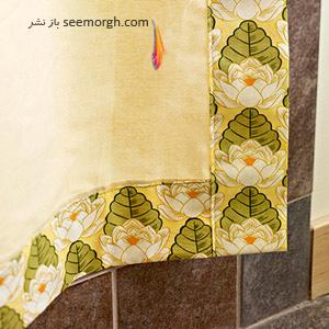یک اتاق خواب آرامش بخش با ترکیب رنگی سبز www.TAFRIHI.com