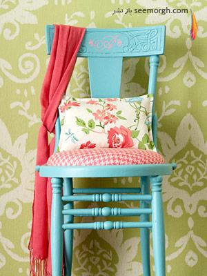 تغییر یک صندلی قدیمی به یک صندلی شاد,طرح های شاد و ارزان برای دکوراسیون منزل شما, ایده هایی جالب، ارزان و زیبا برای یک دکوراسیون داخلی شاد