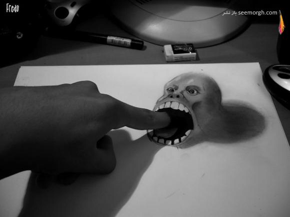 نقاشیهای حیرتانگیز سهبعدی اثر پسر 17 ساله!! www.TAFRIHI.com