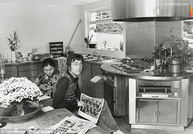 جان لنون و همسرش یوکو اونو