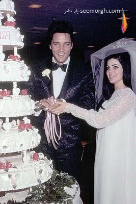 الویس پریسلی و همسرش