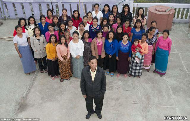 عکس   مردی با ۳۹ زن، ۹۴ فرزند