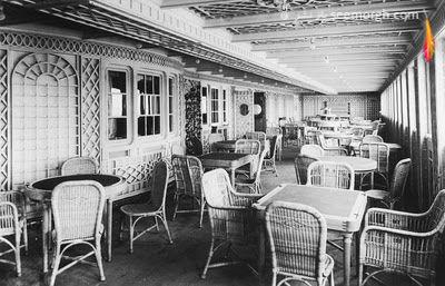 فضای داخلی کشتی تایتانیک