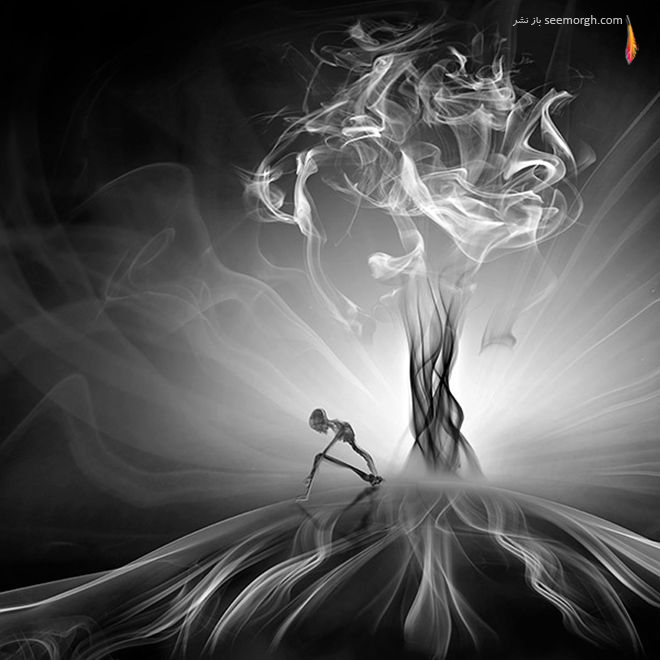هنرنمایی زیبا از جنس دود!! www.TAFRIHI.com
