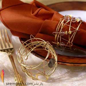 جدیدترین مدل های حلقه دستمال سفره www.TAFRIHI.com