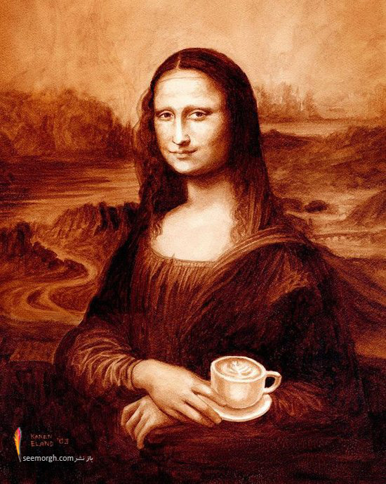 هنرمندی که آثار نقاشان مشهور را با قهوه نقاشی میکند!! (+عکس) www.TAFRIHI.com