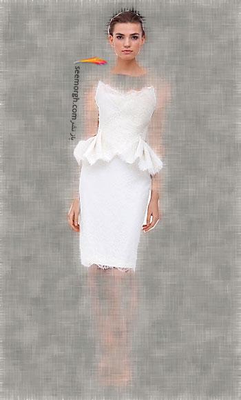 مدل لباس عروس شماره 3 از طراح معروف Marchesa