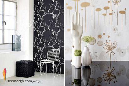 مدلهای بسیار زیبا و شگفت آور از کاغذ دیواری, جدیدترین مدل های کاغذ دیواری در دکوراسیون دخلی