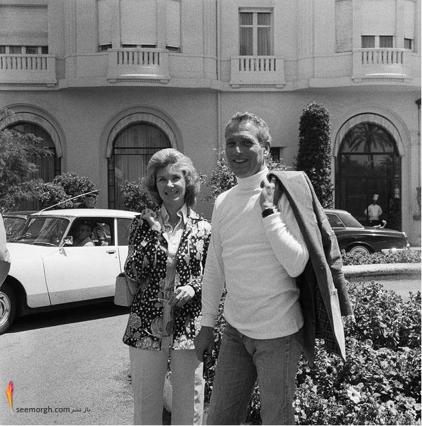 پل نیومن و همسرش