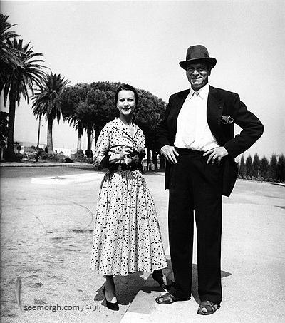 Vivien Leigh and Laurence Olivier in Nice 19531 عکسهای کمیاب از بازیگران هالیوود که تابحال ندیدهاید!