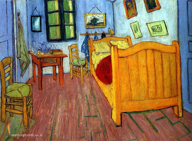 نقاشی اتاق خواب آرل اثر ونگوگ