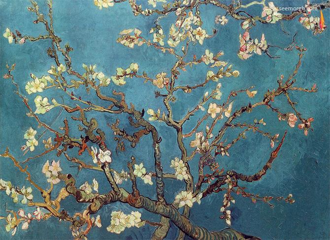 شکوفه های بادام اثر ونگوگ