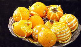 تزیین شب یلدا با پرتقال