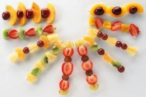 تزیین شماره 5 میوه برای شب یلدا