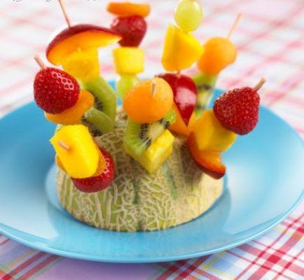 تزیین شماره 2 میوه برای شب یلدا