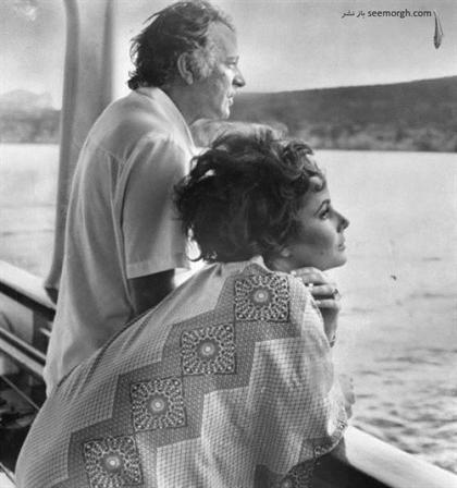 الیزابت تیلور و شوهرش ریچارد برتون