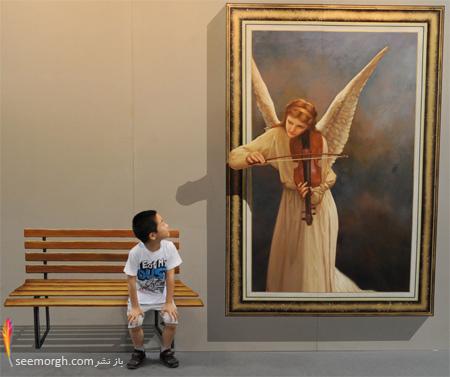 نمایشگاه نقاشی سه بعدی