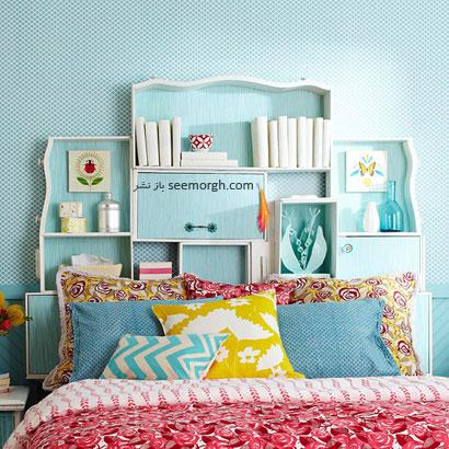 نحوه چیدن وسایل بر روی قفسه بالای تخت,چگونه با وسایل معمولی اتاق خوابی خاص بسازید؟