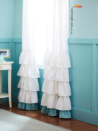 پنجره هایی كه تحسین و حیرت همگان را بر می انگیزد,چگونه با وسایل معمولی اتاق خوابی خاص بسازید؟,پرده اتاق خواب