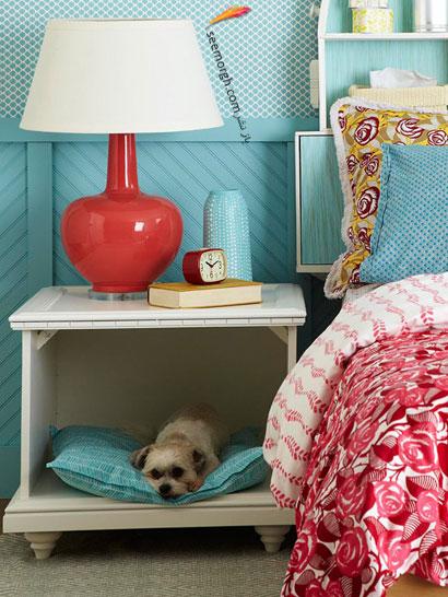 خانه سگ در دکوراسیون اتاق خواب,چگونه با وسایل معمولی اتاق خوابی خاص بسازید؟