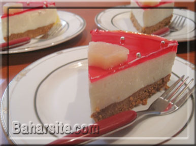 چیز کیک یخچالی 1