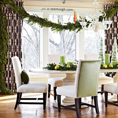 استفاده از چوب و برگ شمشاد برای تزیینات کریسمس