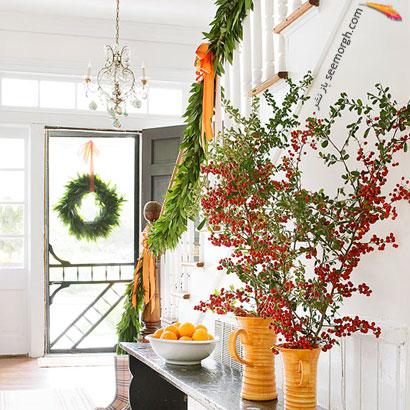 تاج های گل برای کریسمس