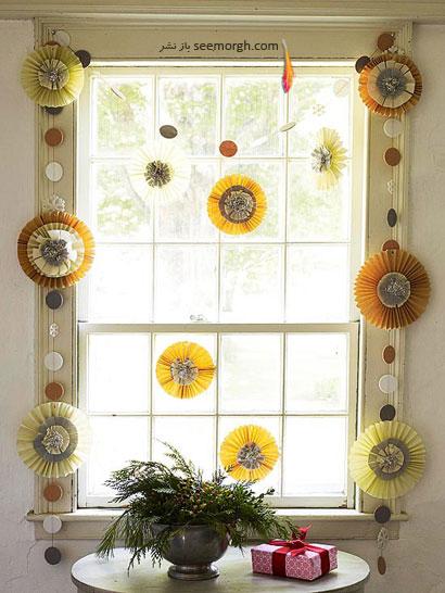 تزئین پنجره  ها برای کریسمس