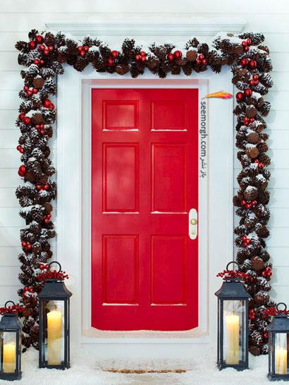 درب ورودی خانه را برای کریسمس تزیین کنید