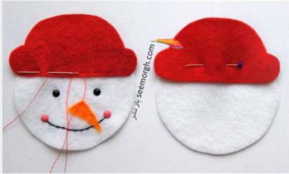 مرحله سوم برای درست کردن آدم برفی برای کریسمس